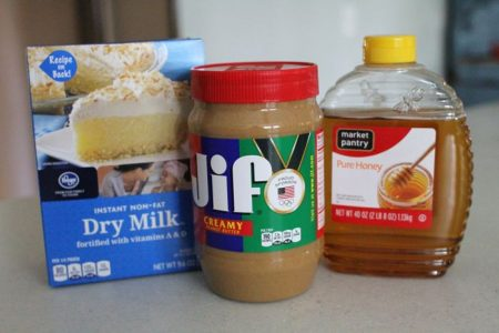 ingredients for peanut butter playdough