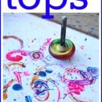 Painting with Tops 150x150 Five Pre Writing Activities for Preschoolers