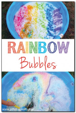 Rainbow bubbles Gift of Curiosity 300x447 Show and Share Saturday Link Up