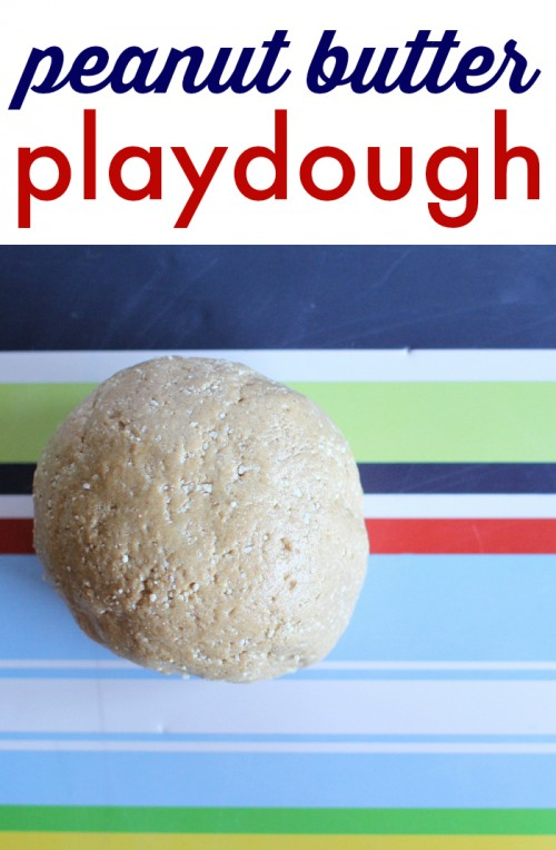 peanut butter playdough 500x764 Edible Peanut Butter Playdough