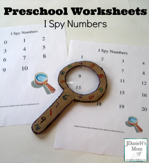 preschool worksheets I spy numbers 600 300x328 Show and Share Saturday Link Up!