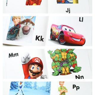 Personalized Character Alphabet Book