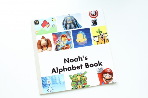 IMG 0892 500x333 Personalized Character Alphabet Book