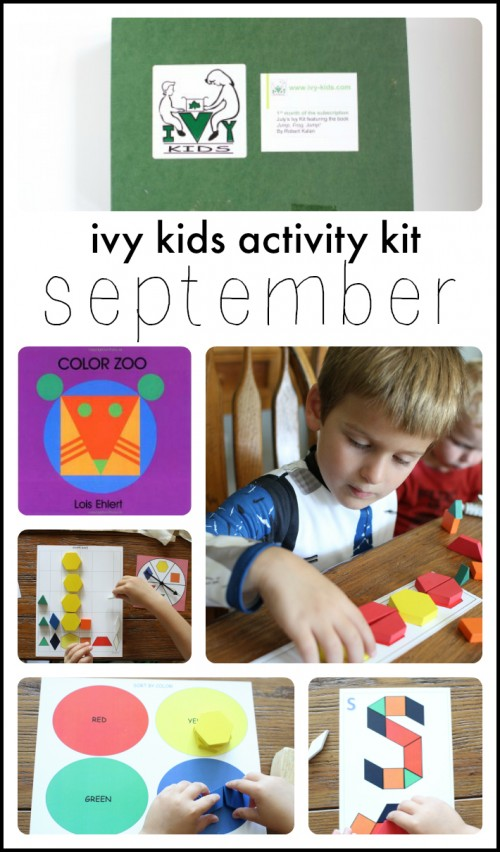 Ivy Kids September Activity Kit based on Color Zoo by Lois Ehlert