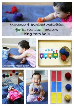 Montessori-Inspired-Activities-for-Babies-and-Toddlers-Using-Yarn-Balls