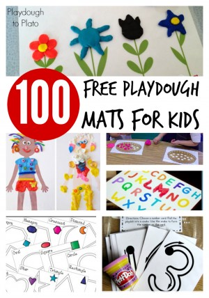 100 Free Playdough Mats for Kids 300x428 Show and Share Saturday Link Up
