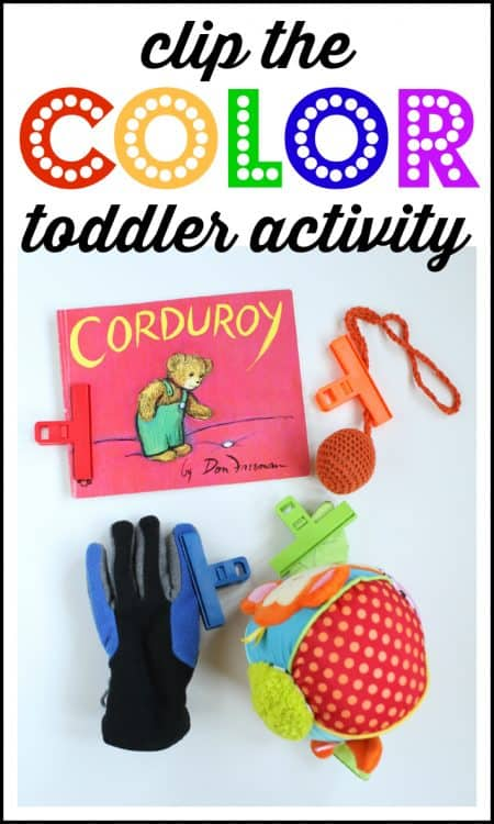 clip the color activity for toddlers