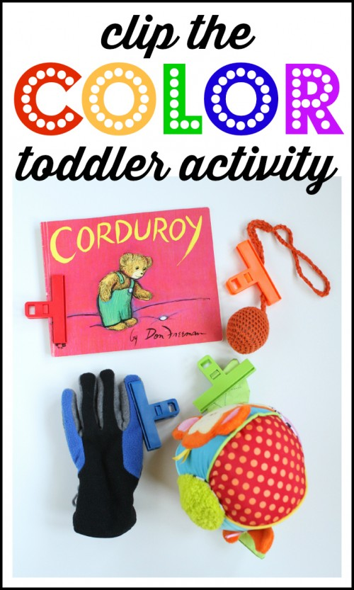 Clip the Color Toddler Activity