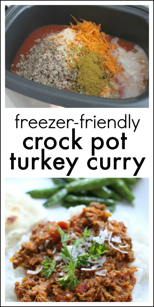 Freezer-friendly Crock Pot Turkey Curry Chili