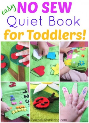How to Make a Quiet Book Includes 11 Inside pages All NO Sew for toddlers 469x650 300x415 Show and Share Saturday Link Up