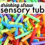 Drinking Straw Sensory Tub