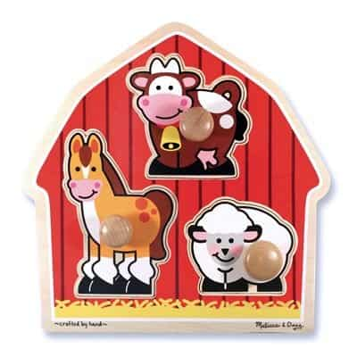 Melissa and Doug Farm Puzzle - best baby toys