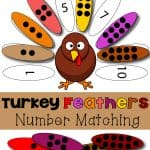 Turkey Feathers Number Matching Game 150x150 Show and Share Saturday Link Up!
