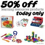 50 off Learning Resources