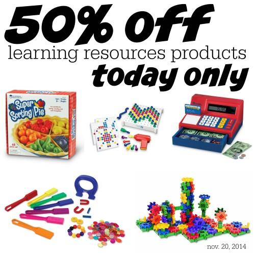 50 off Learning Resources  500x500 50% off Learning Resources Products Today Only (11/20)