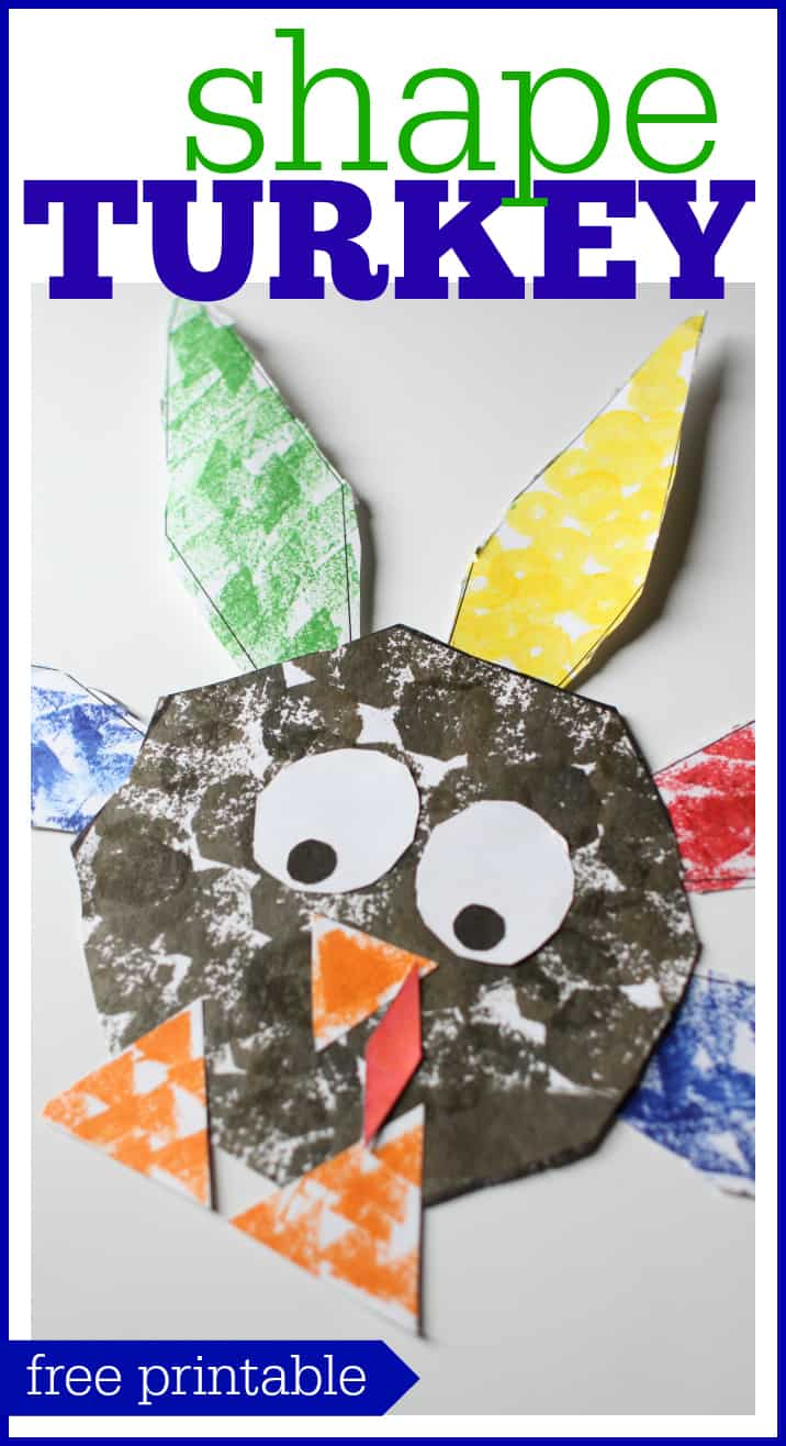 Shape turkey for preschoolers i can teach my child for Turkey country arts and crafts
