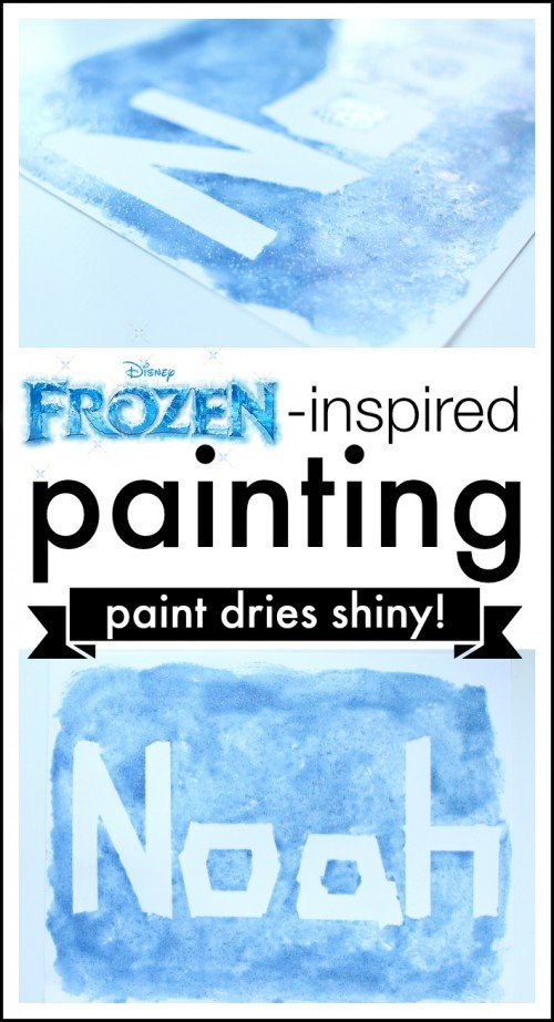 Frozen inspired painting 500x923 Frozen inspired Painting