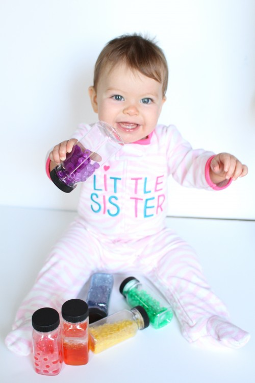 IMG 3599 500x750 Rainbow Discovery Bottles for Babies