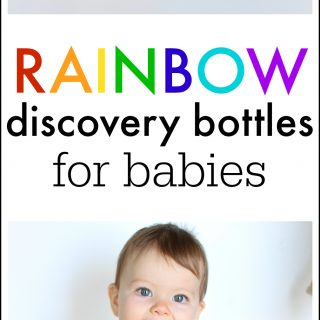 Rainbow Discovery Bottles for Babies