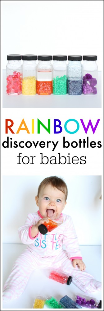 Rainbow Discovery Bottles for babies- so many fun ideas