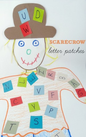 Scarecrow letter patches 300x480 Show and Share Saturday Link Up!