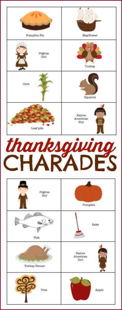 Thanksgiving Charades