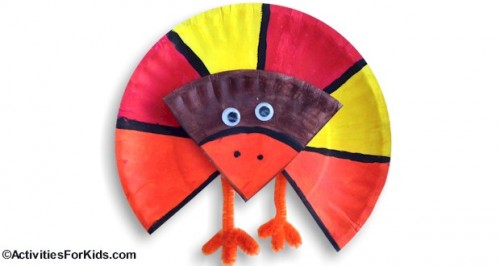 fraction paper plate turkey1 500x266 Show and Share Saturday Link Up!