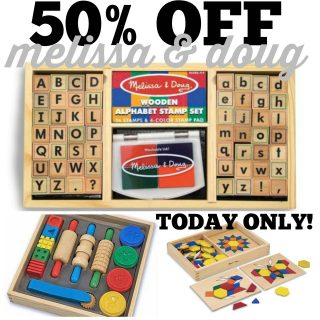 50% off Melissa & Doug Today Only!