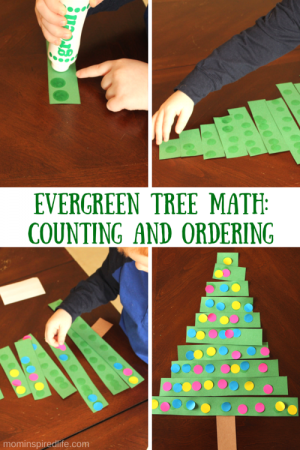 Evergreen Tree Math Counting and Ordering Activity 300x450 Show and Share Saturday Link Up!