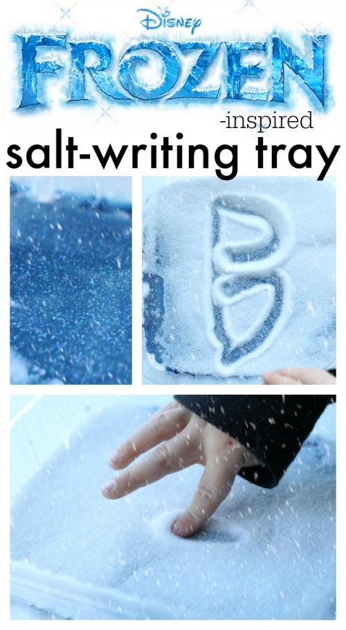 Frozen-inspired Salt Writing Tray