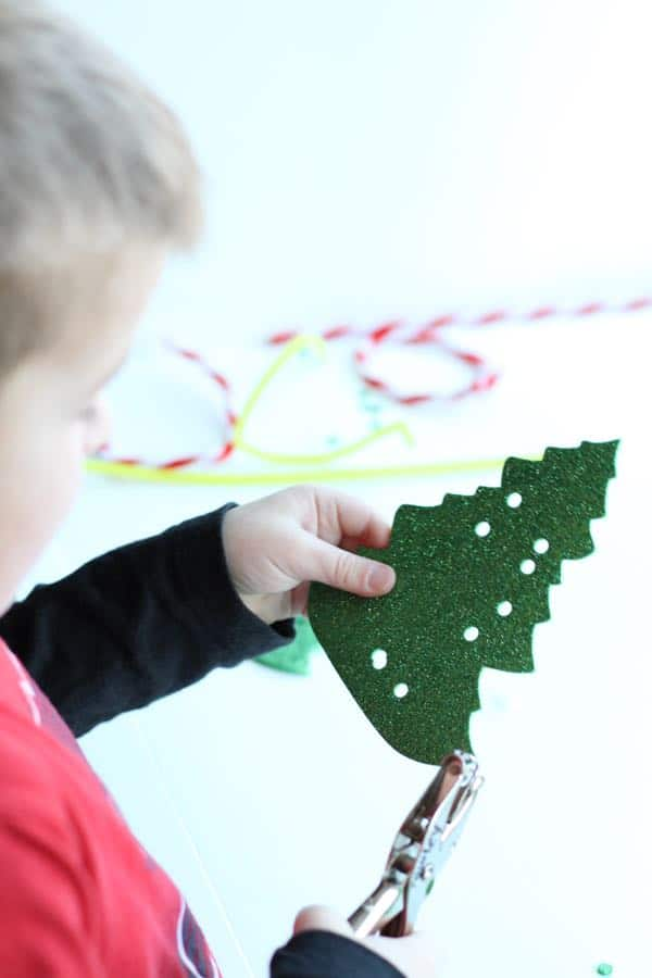 IMG 5014 Fine Motor Christmas Trees
