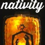 Lighted Shadowbox Nativity