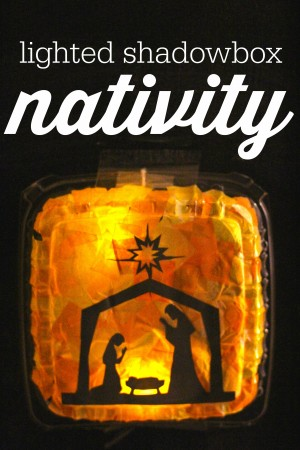Lighted Shadowbox Nativity