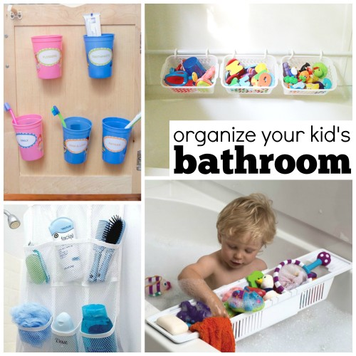 Organize the bathroom for kids