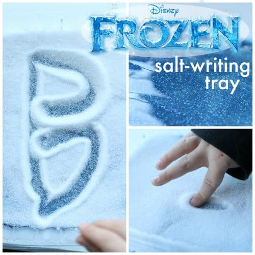Salt-Writing Tray Inspired by Frozen