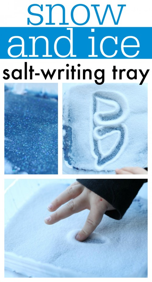 Snow and Ice Salt Writing Tray