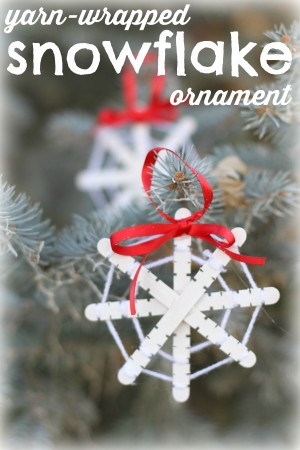 Yarn-Wrapped Snowflake Ornament