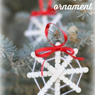Yarn Wrapped Snowflake Ornaments