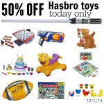 50% off Hasbro Toys and Games Today Only
