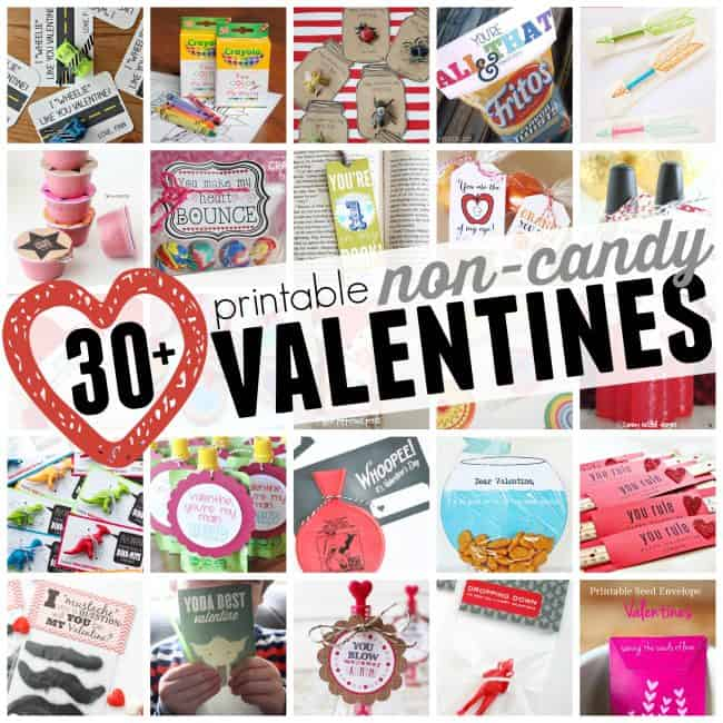 30+ Printable Non Candy Valentine Ideas