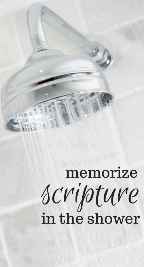Memorize Scripture in the Shower