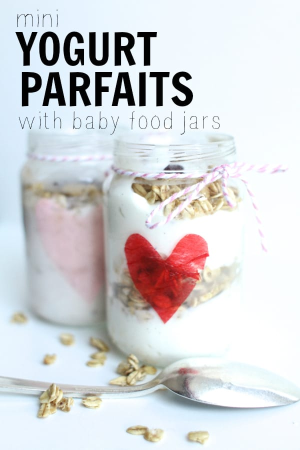 Mini Yogurt Parfaits with Baby Food Jars and Yulu Yogurt