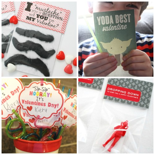 Mustaches, Yoda, Silly Straws, and Parachute Trooper Valentines