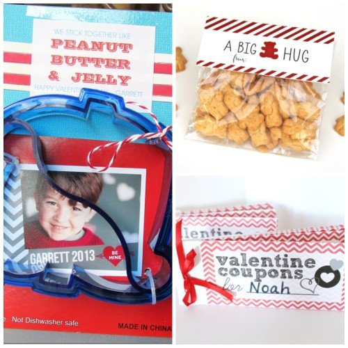 Valentine Coupons for Kids, Bear Hug Valentines, Peanut Butter and Jelly Valentines