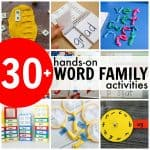 30+ Hands-On Word Family Activities