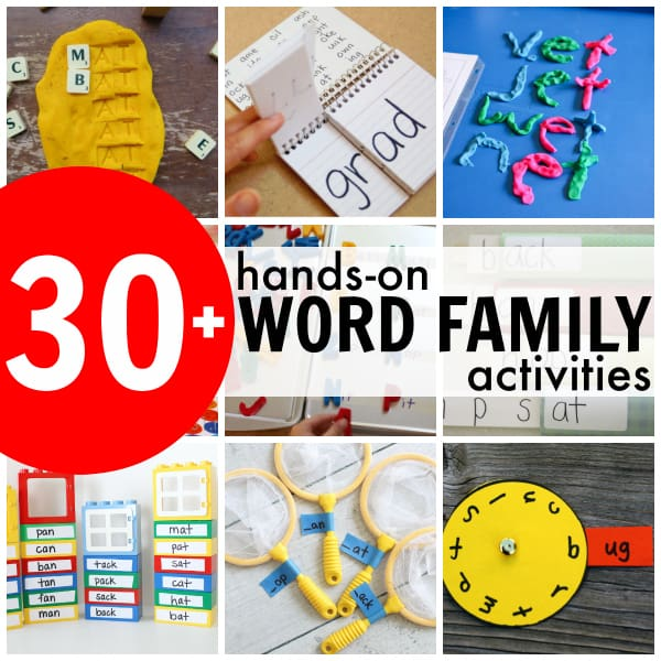 Hands-on Word Family Activities