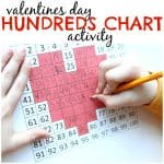Hundreds Chart Activity for Valentines Day
