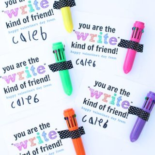 """You are the 'Write' Kind of Friend"" Shuttle Pen Valentines"