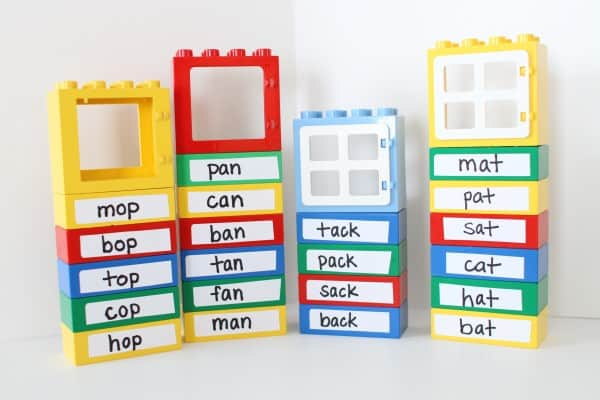 LEGO Word Family Buildings - word families