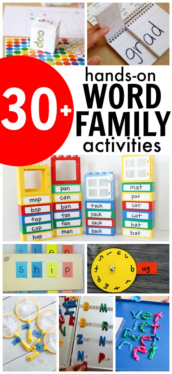More than 30 Hands-On Word Family Activities